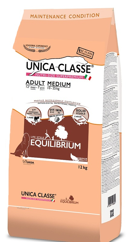 UNICA CLASSE Equilibrium Adult Medium Lamb 12 kg