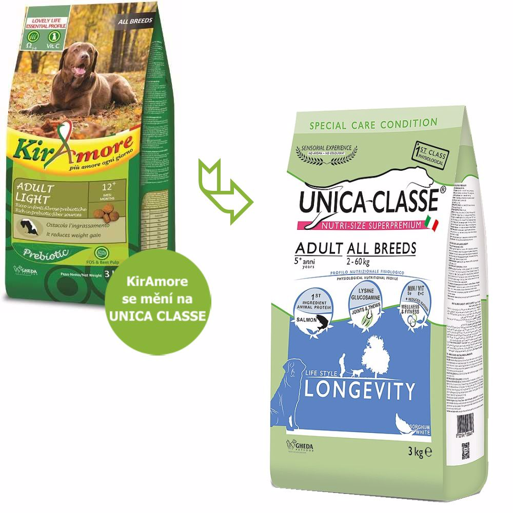 UNICA CLASSE Longevity Adult All Breeds Salmon 3 kg