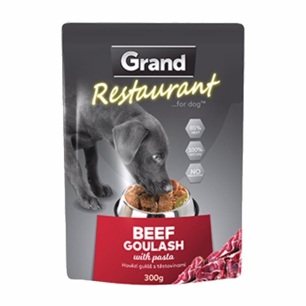 Grand deluxe Resturant Hovězí guláš kapsy pro psy 300 g