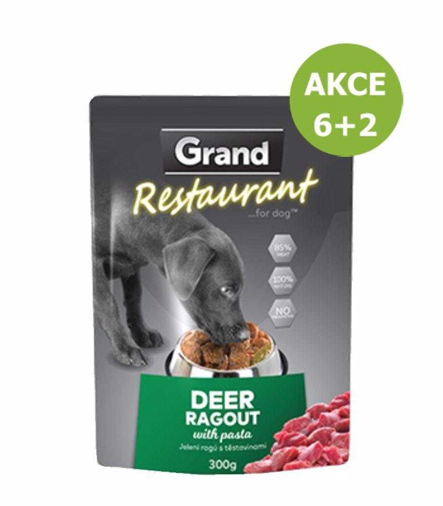 Grand deluxe Restaurant Jelení ragú kapsy pro psy 300 g-AKCE 6+2
