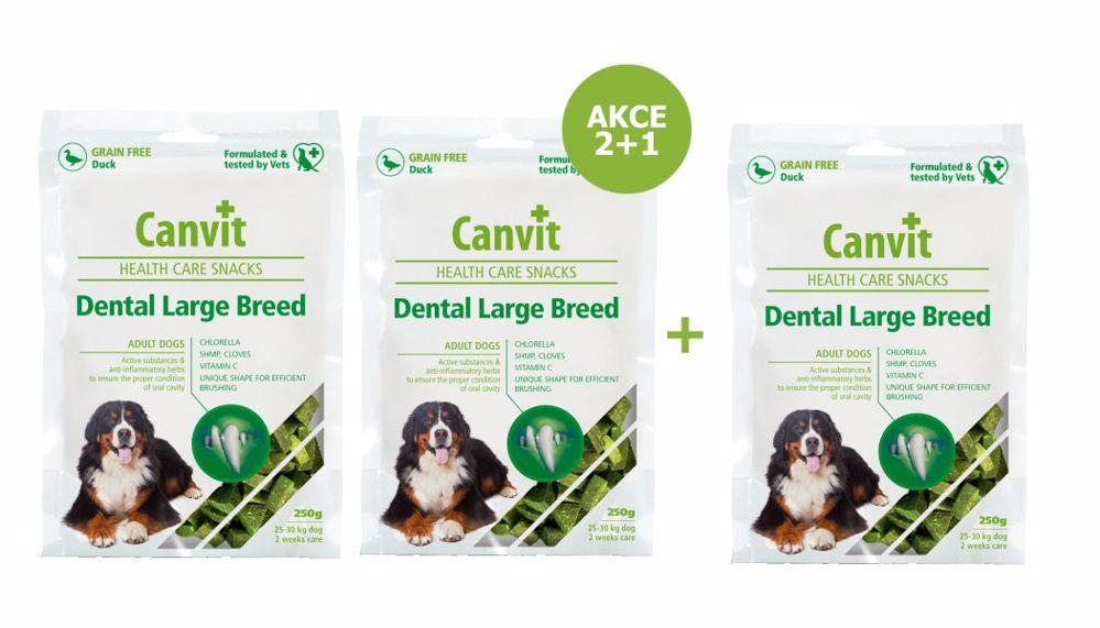 Canvit Snacks Dental Large Breed-Duck 250g-AKCE 2+1 Zdarma