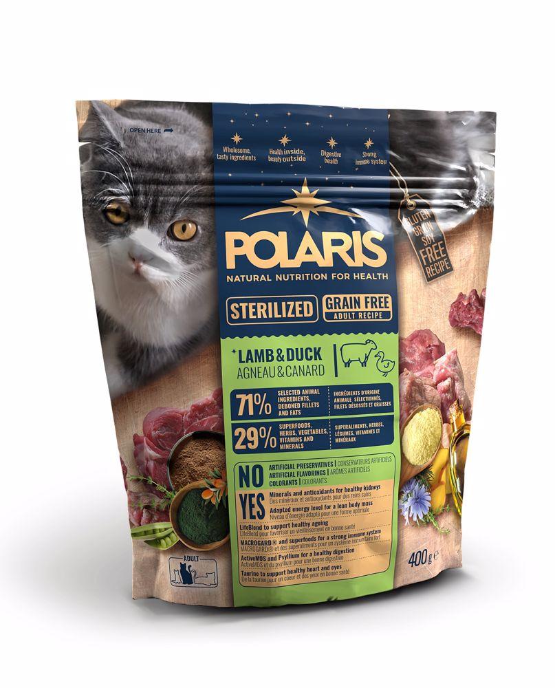 Polaris Cat Steril jehně & kachna 400 g