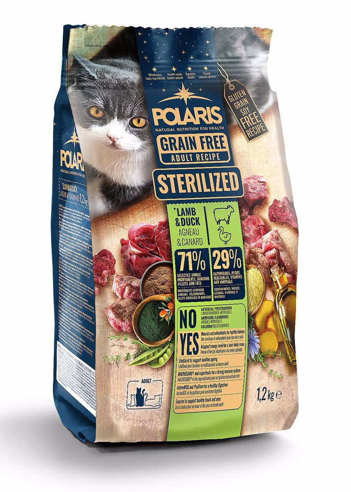 Polaris Cat Steril jehně & kachna 1,2 kg