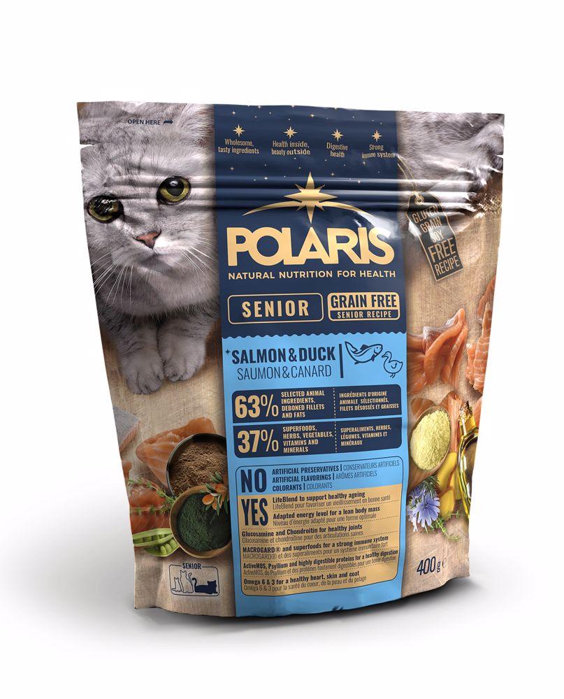Polaris Cat Senior losos & kachna 400 g