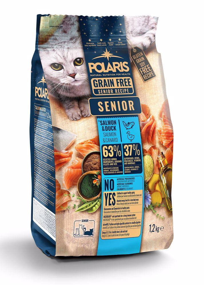Polaris Cat Senior losos & kachna 1,2 kg