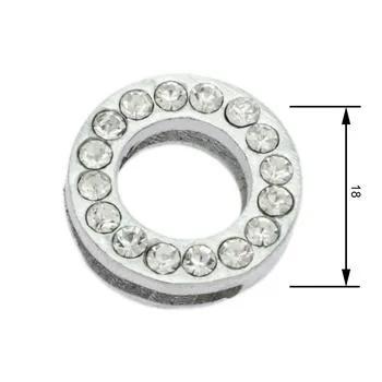 Navlékací písmenka -O- 18mm,vysázené krystaly-7396