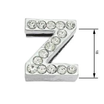Navlékací písmenka -Z- 18mm,vysázené krystaly-7405