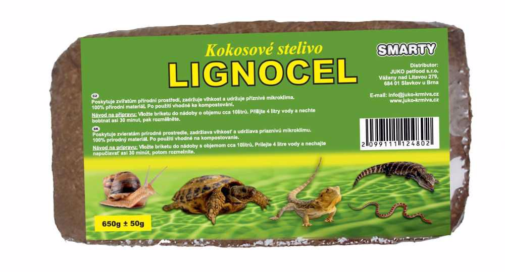Kokosové stelivo LIGNOCEL cca 650 g