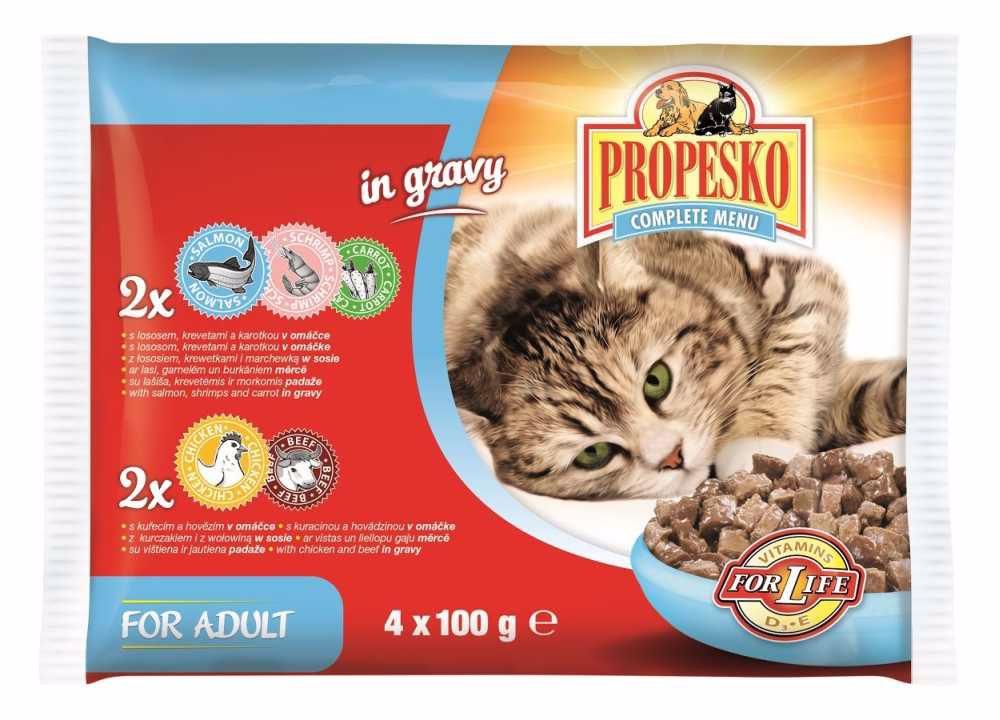 PROPESKO KAPSA KOČKA 4-pack 100g-losos+kuře-9179
