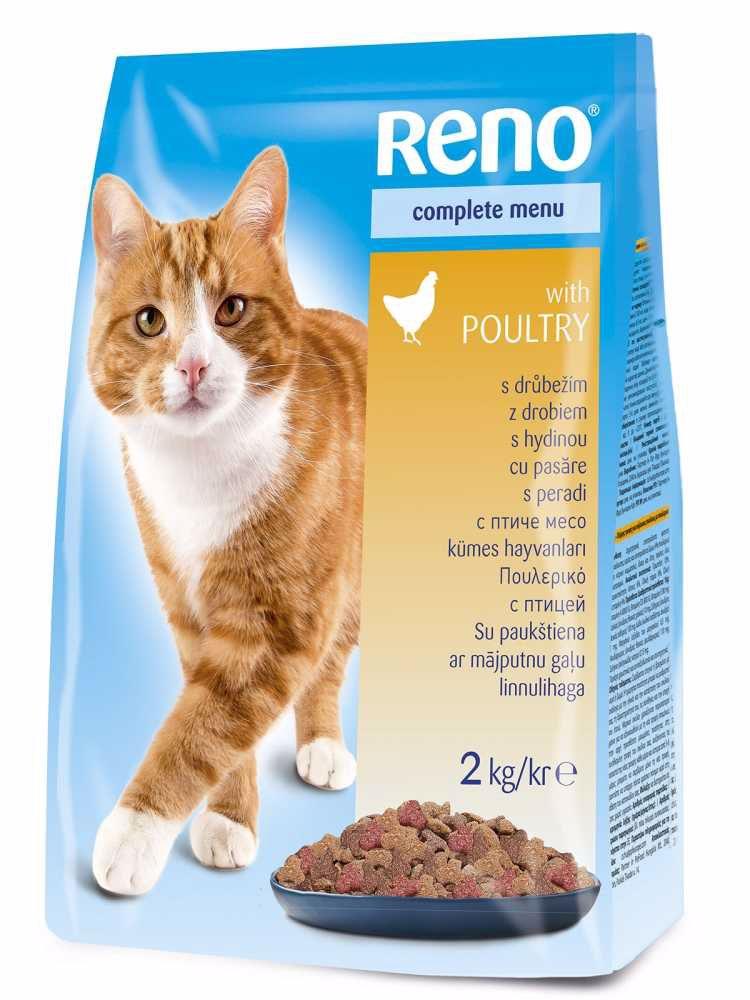 RENO Cat drůbeží, granule 2 kg