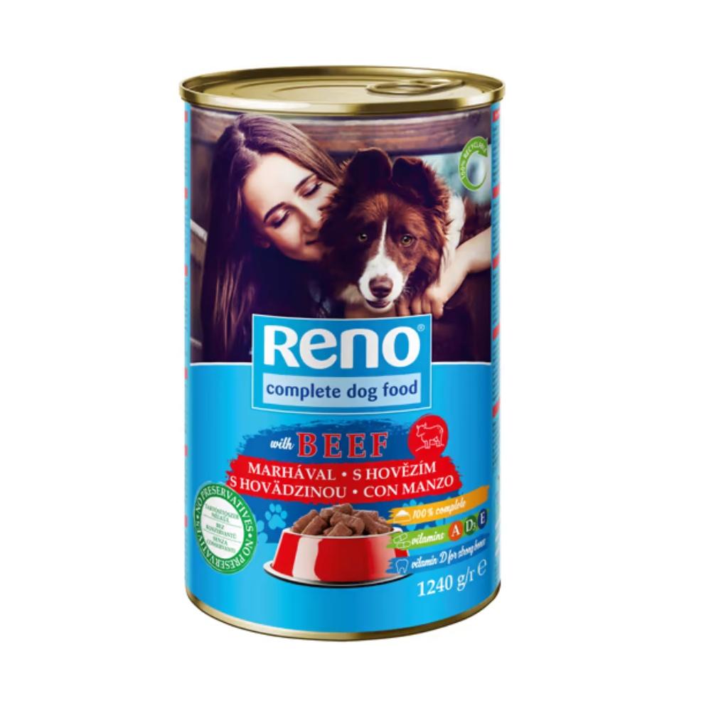 RENO Dog hovězí, kousky 1240 g