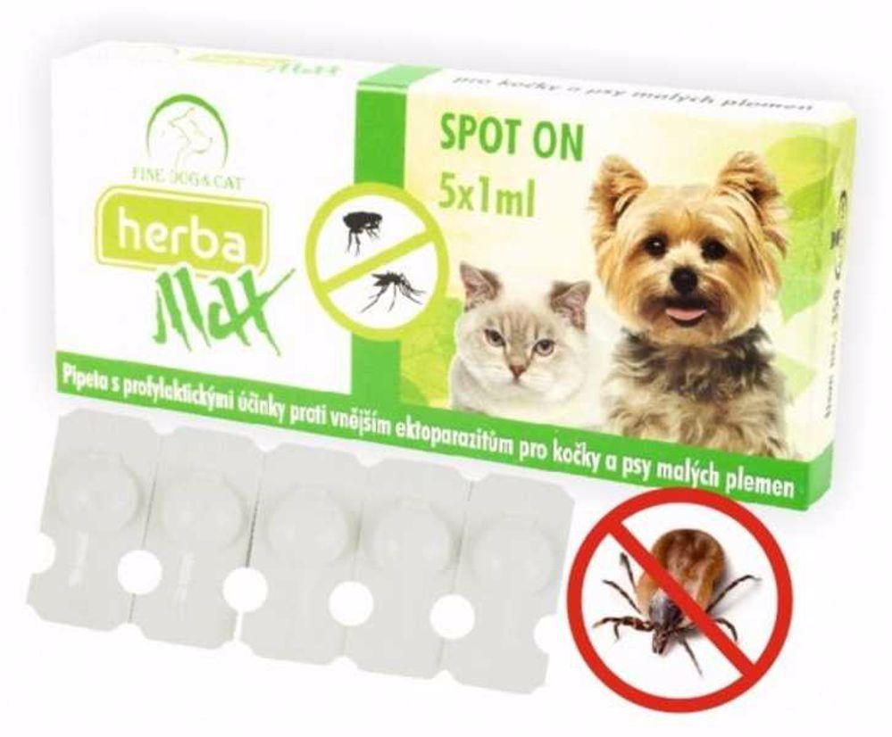 Max Herba-SPOT ON dog+cat 5x1ml- Fine dog&cat-9559